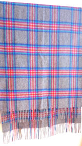 100%Cashmere Elegant Plaid Shawl pictures & photos