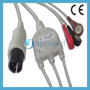 One Piece 5-Lead ECG Cable With Leadwires pictures & photos