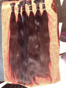 Unprocessed Natural Russian One Donator′s Human Hair Bulk pictures & photos
