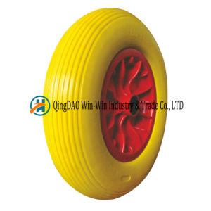 4.80/4.00-8 PU Foam Wheelbarrow Wheel 16 Inch Flat Free Tire pictures & photos