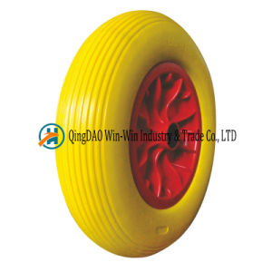 PU Foam Wheel for Wheelbarrow Tyre (4.80/4.00-8) pictures & photos