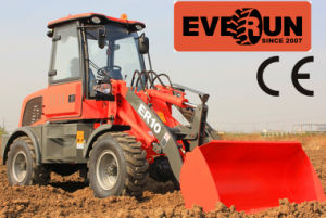 Everun Brand New Design 1 Ton Mini Front End Wheel Loader with Adjustable Pallet Forks pictures & photos