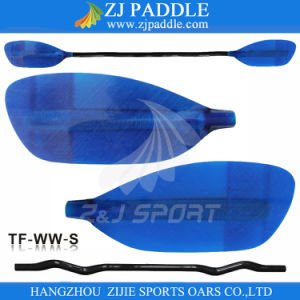 Z&J Sport Fiberglass Blade Carbon Shaft Whitewater Paddle with Bent Shaft