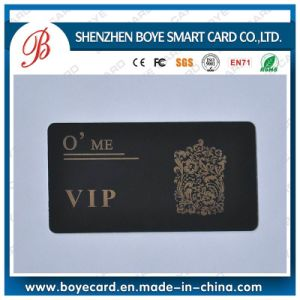 Gold Hostamp Black Luxury Plastic VIP Card pictures & photos