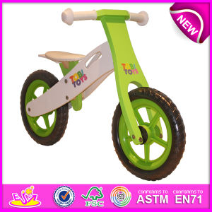 Stock! ! ! ! 2014 Stock Wooden Bicycle Toy for Kids, Stock Wooden Bike Toy for Children, Wooden Balance Bicycle Set for Baby Factory W16c091 pictures & photos