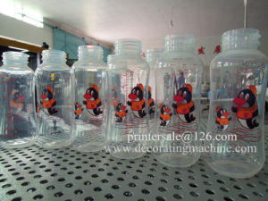 3 Color Baby Bottles Screen Printing Machine with LED UV pictures & photos