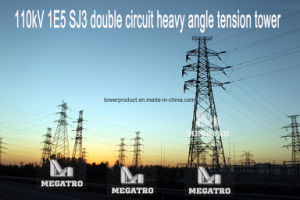 Megatro 110kv 1e5 Sj3 Double Circuit Heavy Angle Tension Tower pictures & photos