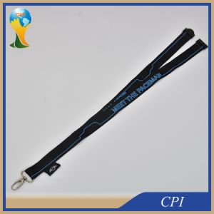 Silk Screen Printing Lanyard with Woven Brand pictures & photos