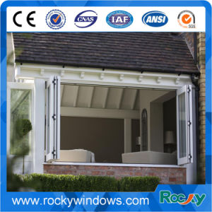 Aluminium Folding Window with Stainless Steel Metal Protection pictures & photos
