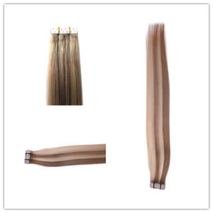 Good Quality Human Remy Hair Taped Hair Extension pictures & photos