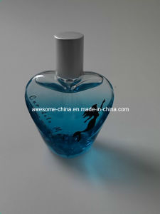 Blue Heart Shape Glass Perfume Bottle