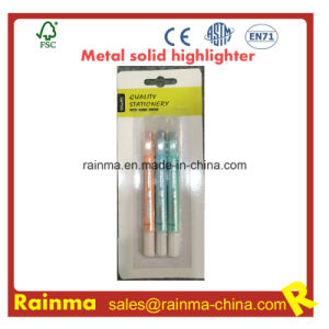 Metal Color Solid Highlighter for Stationery Supply pictures & photos