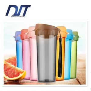 380ml Portable Plastic Cup Customized Logo Leakproof Movement