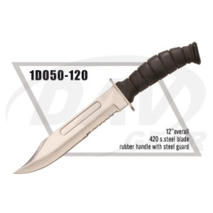 "12"" Overall Black Rubber Handle Dagger for Survival: 1do50-120 pictures & photos"