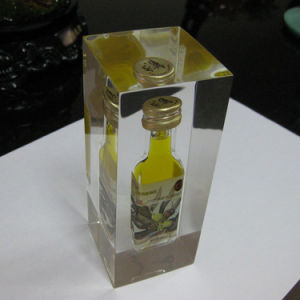 Custom Clear Polyester Resin LED Beer Bottle Display pictures & photos
