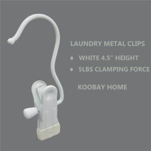 White Metal Non Slip Clip Clothes Laundry Hanger pictures & photos
