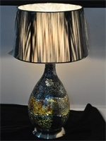 Fabric Mosaic Table Lamp of Interior Decoration