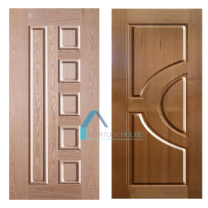 Mold MDF/HDF Door Skins with Natural Ash Veneer Material pictures & photos
