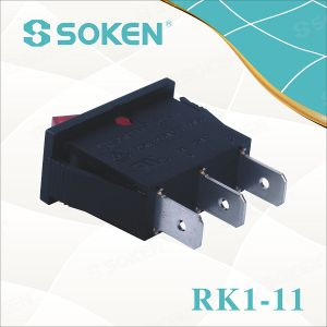 Soken RoHS UL Single Pole Rocker Switch T85/Defond Switches pictures & photos
