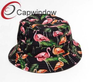 Red Crowned Crane Printed Promotonal Fashion Leisure Fisherman Bucket Hat pictures & photos