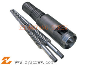 Bimetallic Twin Conical Screw Barrel for WPC pictures & photos