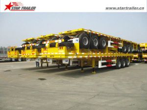 New Platform Flatbed Container Chassis with Jost Landing Gear pictures & photos