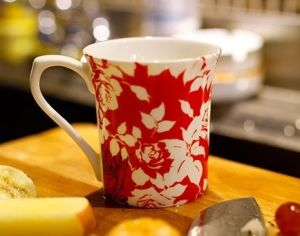 Beautiful Ceramic Coffee Mugs with Flowers