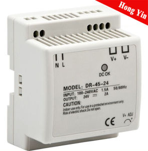 Dr-45-5 High Efficiency DIN-Rail Switch Power Supply pictures & photos