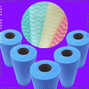 Super Absorbent Multi-Purpose Household & Kitchen Spunlace Nonwoven Wiping Cloth pictures & photos