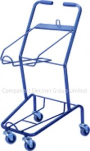Hot Sell Good Cheap Two Layer Supermarket Shopping Zinc Basket Cart (YB-J008) pictures & photos