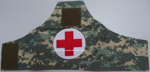 First-Aid Arm Patch with Embroidery Red Cross pictures & photos