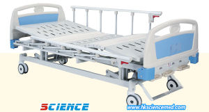Basic Type Steel Manual Hospital Bed with Three Functions pictures & photos