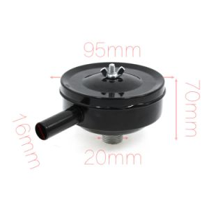 "Black 1/2"" PT Male Thread Round Air Compressor Parts Intake Silencer Muffler pictures & photos"