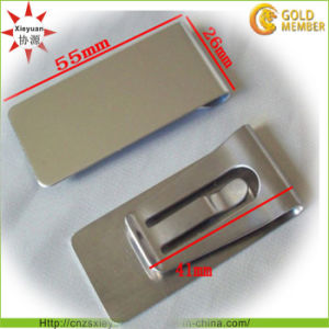 Custom Design Metal and Leather Money Clip pictures & photos