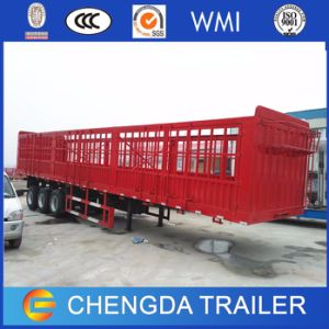 3axle Cage Van Fence Cargo Horse Semi Trailer for Sale pictures & photos