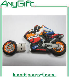 Motor Shaped PVC USB Stick with One-Class Chip pictures & photos