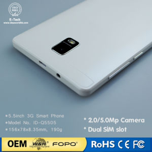 5.5inch Mtk6580 Quad-Core 1.2GHz 720X1280 IPS Screen Android 5.1 3G OEM Smartphone pictures & photos