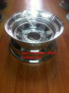 Vacuum Chrome Finish Steel Wheel 15X7 pictures & photos
