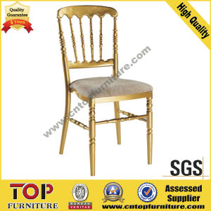 Golden Aluminum Fixed Cushion Napoleon Chair pictures & photos