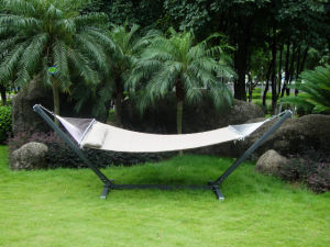 Aluminum Hammock in Wooden-Grain Finish