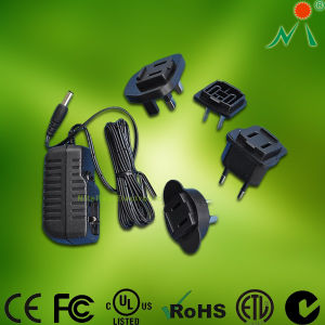 Switching Adapter with Us, UK, Au, EU Plugs AC DC Power Switching Adapter