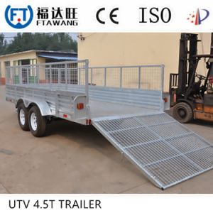 Powder Coating Flatbet Semi Truck Trailer Box Low Bed Trailer pictures & photos