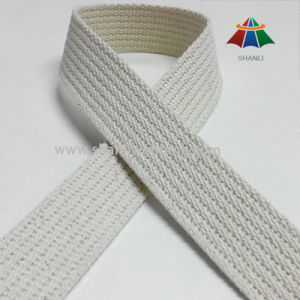 1 Inch White Grooved Cotton Webbing Tape pictures & photos