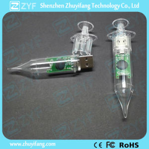 Plastic Transparent Syringe USB Flash Drive with Logo (ZYF1815) pictures & photos