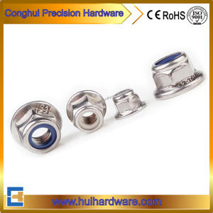 Stainless Steel Nylon Lock Hex Flange Nut (DIN6926) pictures & photos