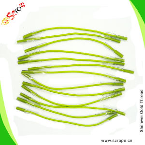 Green Elastic Rope with Transparent Plastic Clips