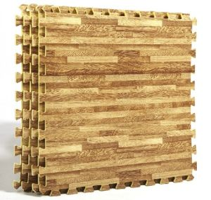 Interlocking EVA Wood Grain Jigsaw Puzzle Mats pictures & photos
