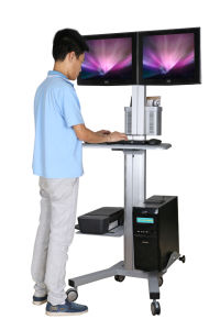 """Mobile Computer Workstation Dual Monitors 10-24"""" Height Adjustment (PC 1602B) pictures & photos"""