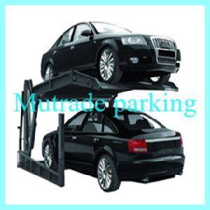 Hydraulic Tilting Two Post Double Layer Car Lifting Car Storage System pictures & photos