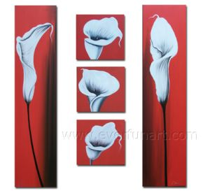 Huge Wall Art on Canvas Flower Painting (FL5-073) pictures & photos